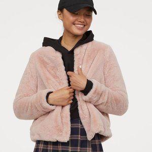 NWOT H&M Faux Fur Pink Jacket/Coat